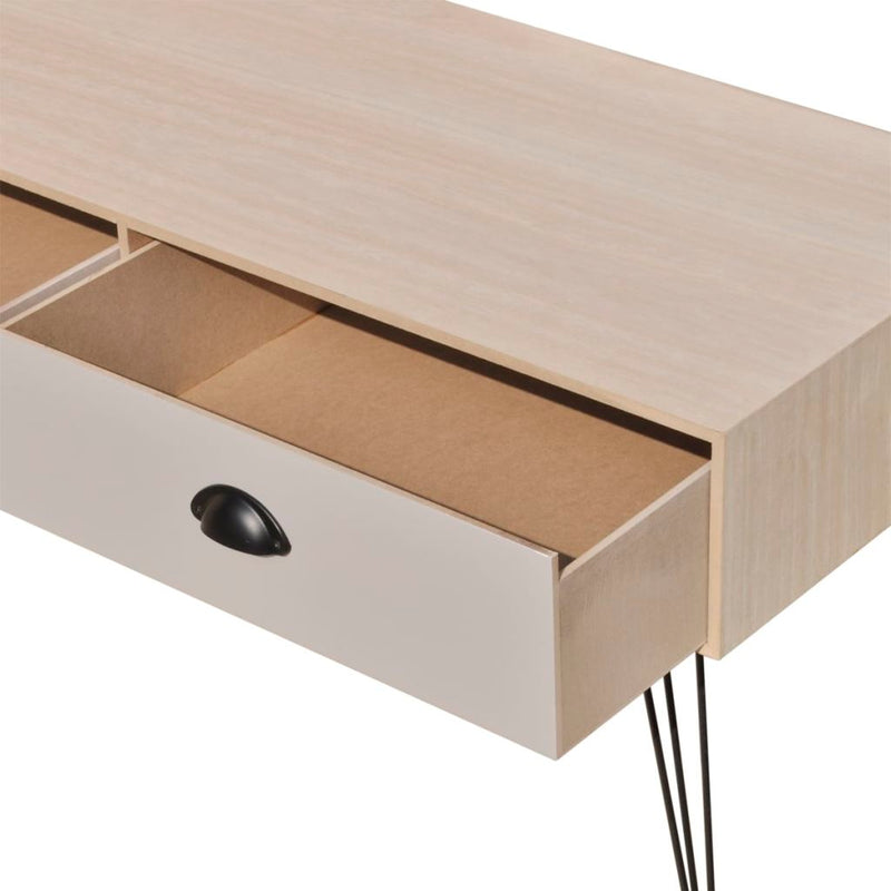 TV Side Table 100 x 40 x 35 Cm - Brown