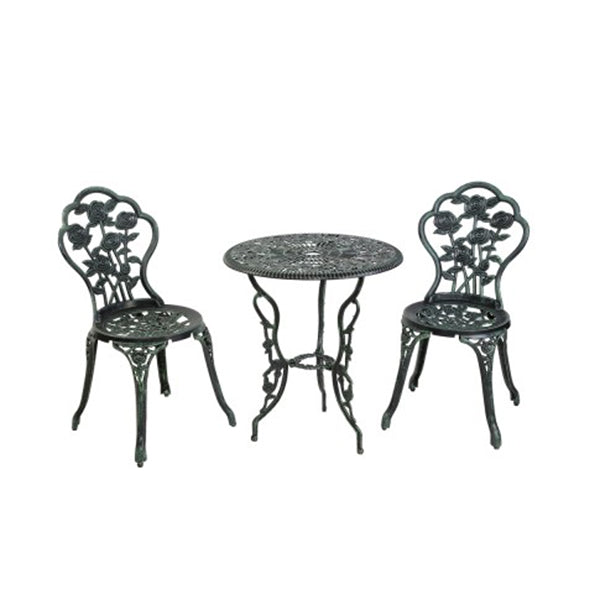 Outdoor Furniture Chairs Table 3pc Aluminum