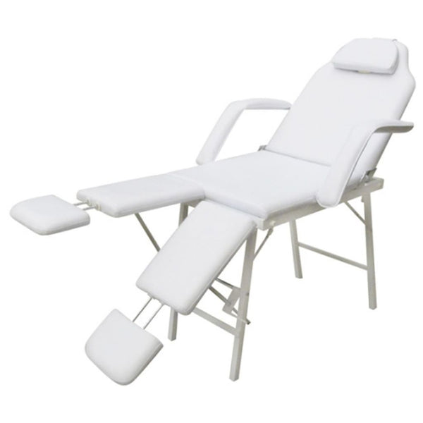 Treatment Chair With Adjustable Leg Rests - White