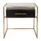 Vogue Bedside Table Small Gold