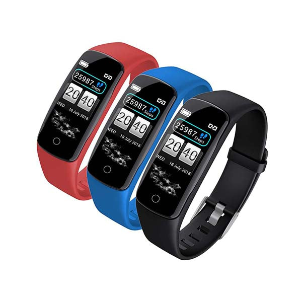 Soga 3X Sport Monitor Wrist Touch Fitness Tracker Smart Watch Bundle