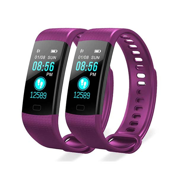 Soga 2X Sport Smart Watch Health Fitness Wrist Band Tracker Purple