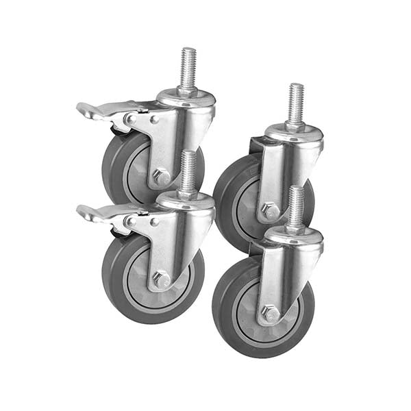 Soga 4In Heavy Duty Polyurethane Swivel Castor Wheels 2 Lock Brakes