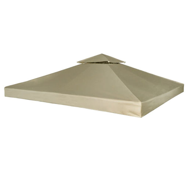 Waterproof Gazebo Cover Canopy Replacement 3 x 3 m - Beige