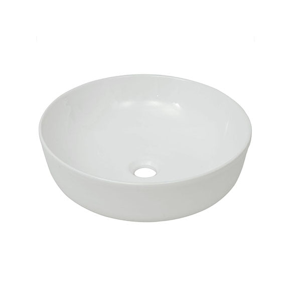 White Basin Round Ceramic