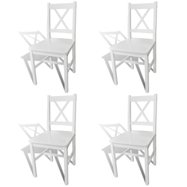 Wood Dinning Chair (Set of 4) - White