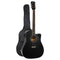 41 Inch Electric Acoustic Guitar Wooden Classical Full Size Bass Black