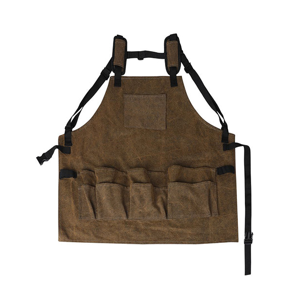 Waxed Canvas Tool Apron Adjustable Workshop Waterproof Woodworking