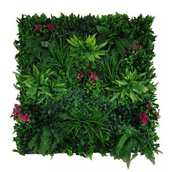 Flowering Lilac Vertical Garden Green Uv Resistant 100X100 Cm Panel