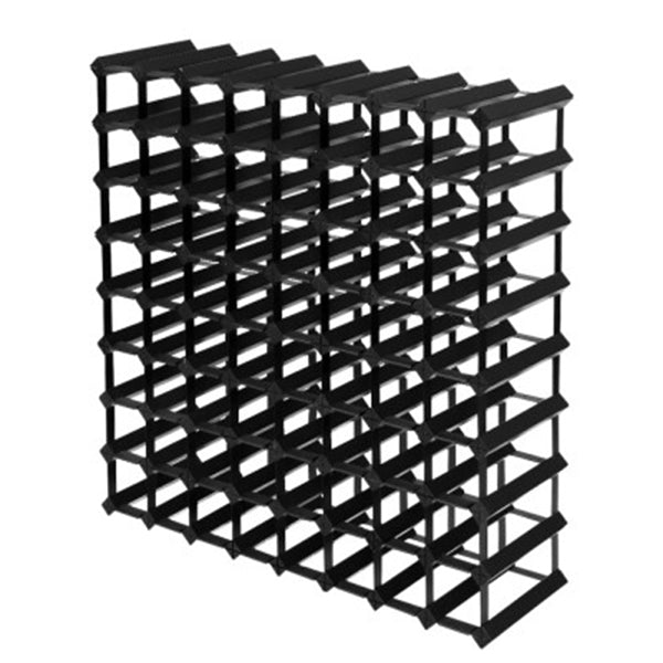 72 Bottle Timber Wine Rack Wooden Storage Wall Holders Cellar Black