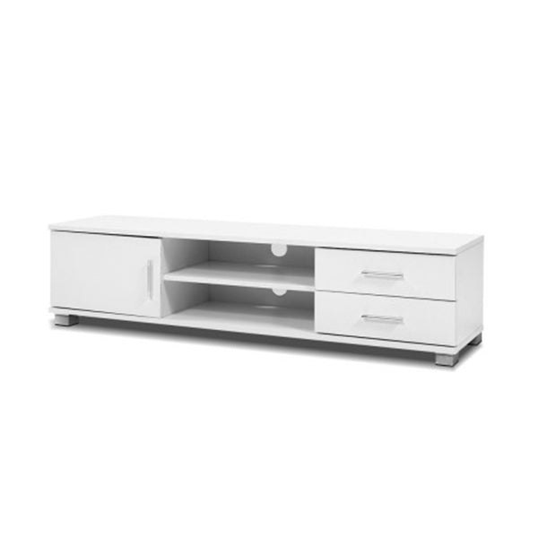 120 Cm Tv Stand Entertainment Unit Storage Cabinet Drawers Shelf White
