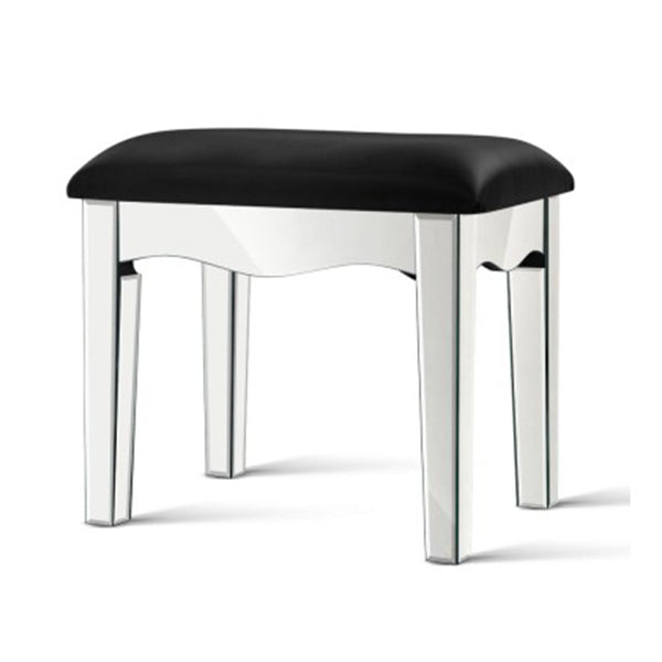 Mirrored Furniture Dressing Table Stool Foot Vanity Makeup Chairs