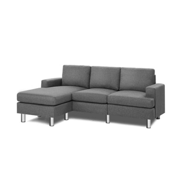 Image of Sofa Lounge Set Couch Futon Corner Chaise Fabric 4 Seater Suite