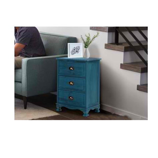 Bedside Tables Drawers Side Table Cabinet Vintage Storage Nightstand