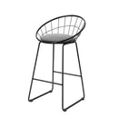 Artiss 2X Nordic Bar Stools Metallic Stool Kitchen Fabric Grey Black