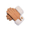 UGG Sheepskin Leather Suede Button Gloves Chestnut Womens