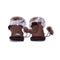UGG Fingerless Sheepskin Leather Gloves Chocolate Womens Cindy