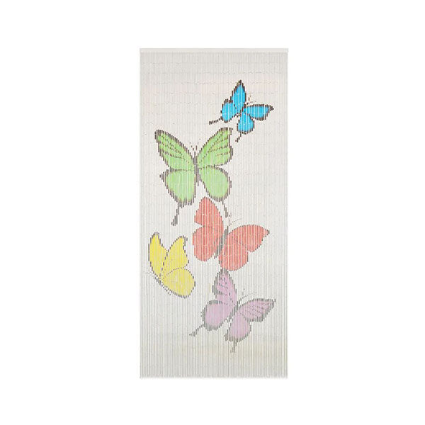Insect Door Curtain Bamboo 90X200 Cm Butterfly Print