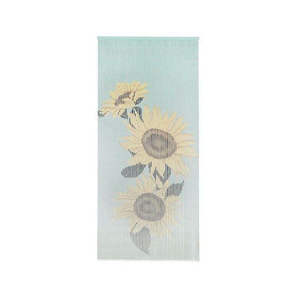 Insect Door Curtain Bamboo 90X200 Cm Sunflower Print
