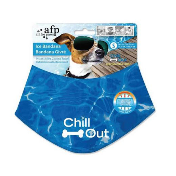 Ice Dog Cooling Bandana Chill Out Pet Neck Cool Collar Scarf Cold