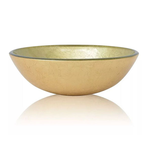 Basin Tempered Glass 42 Cm Gold