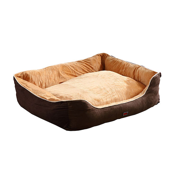 Pet Bed Mattress Dog Cat Pad Mat Puppy Cushion Soft Washable Brown