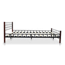 Bed Frame With Slatted Base Wooden Post