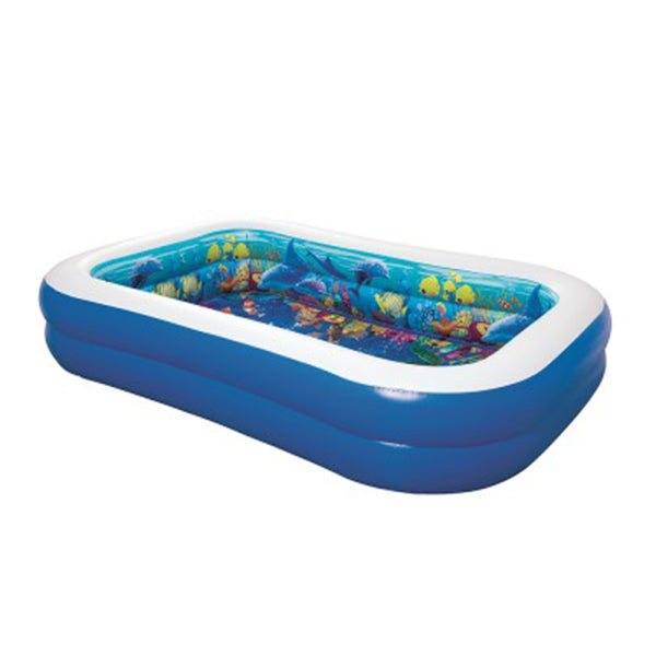 Bestway Inflatable Kids Pool Ground Play 3D Undersea Aquarium Outdoor