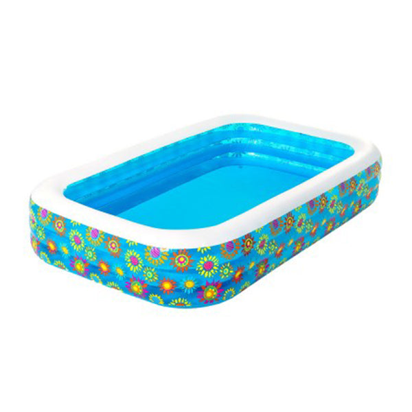 Bestway Inflatable Kids Play Pool Swimming Pool Rectangular Family