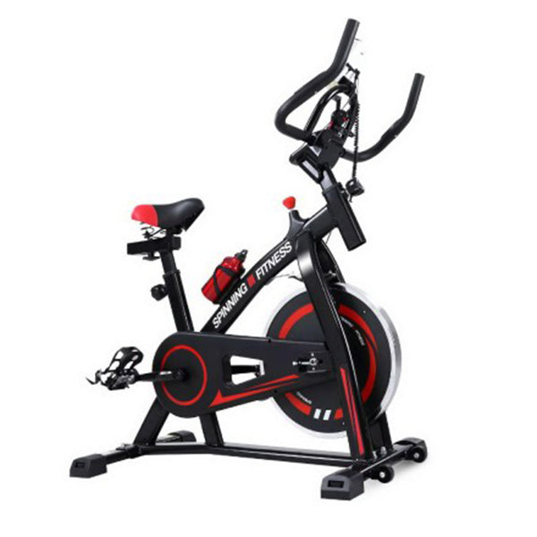 Spin Exercise Bike Flywheel Fitness Home Workout Gym Machine Black