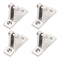Boat Deck Hinges For Bimini Top 4 Pcs Stainless Steel