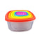 Set Of 7 Reusable Bowl Food Fresh Sealing Lid Container Cover Plastic