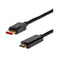 Displayport Male To Hdmi 2 Male Cable 4K2K At 60Hz Black