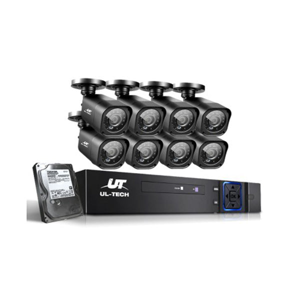Cctv Security System 8 Camera Sets 2Tb 8Ch Dvr 1080P