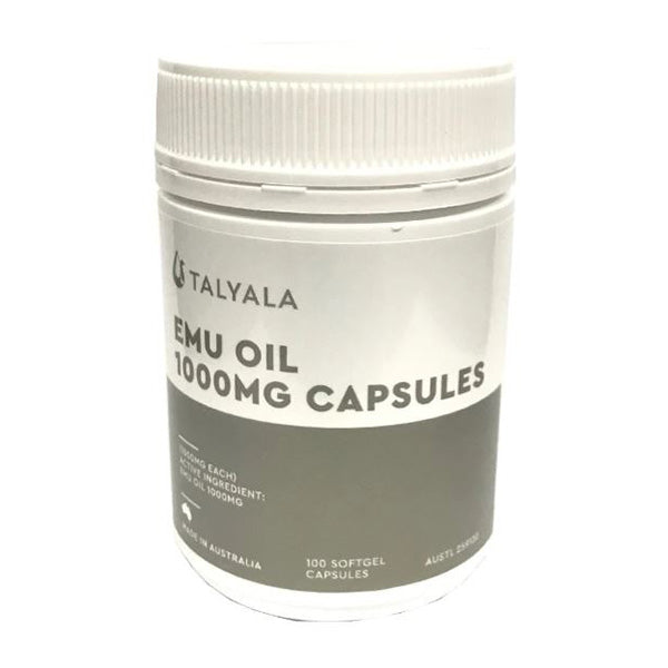 Emu Oil Capsules Bottle 100X1000Mg