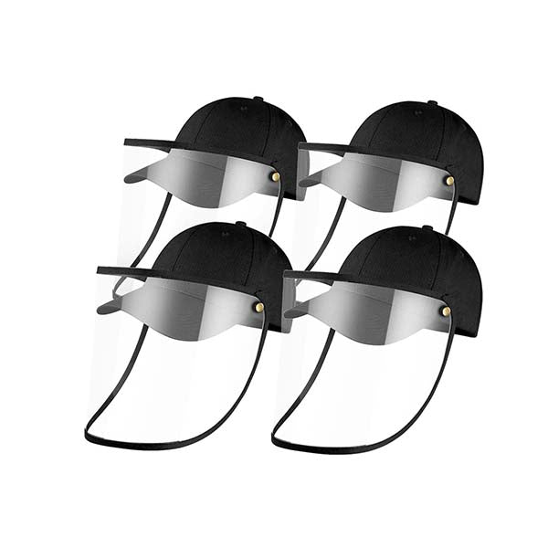 4X Outdoor Hat Anti Fog Dust Saliva Cap Face Shield Cover Kids Black