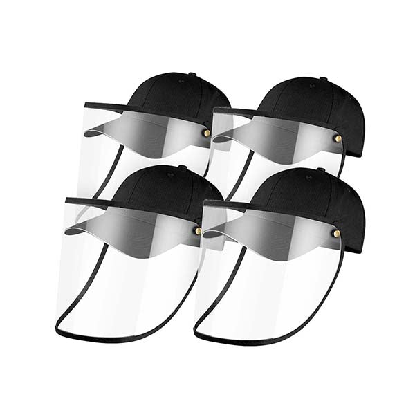 4X Outdoor Hat Anti Fog Dust Saliva Cap Face Shield Cover Adult Black