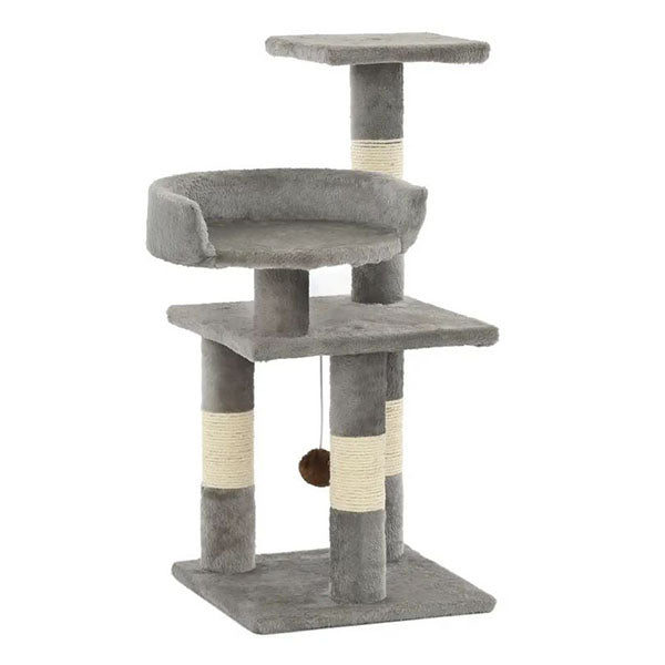 Cat Tree Board Frame With Sisal Scratching Posts 65 Cm