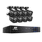 8Ch 5 In 1 CCTV Video Recorder With 8 Cameras 1080P HDMI Black