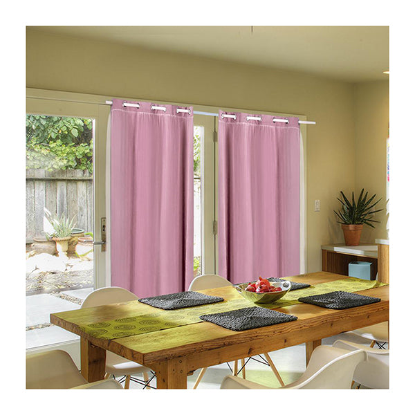2X Blockout Curtains Panels 3 Layers With Gauze Room Darkening 180X230 Cm Rose