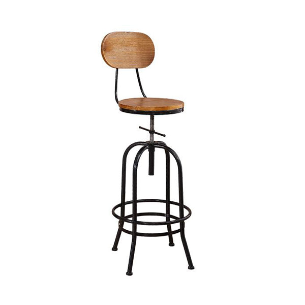 Industrial Bar Stools Kitchen Stool Wooden Barstools Swivel Vintage Chair