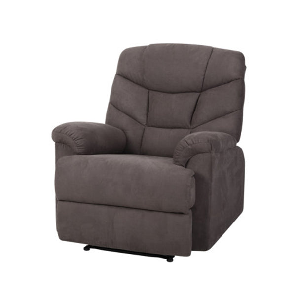 Recliner Chair Lounge Sofa Chairs Foam Padded Suede Fabric Couch Grey