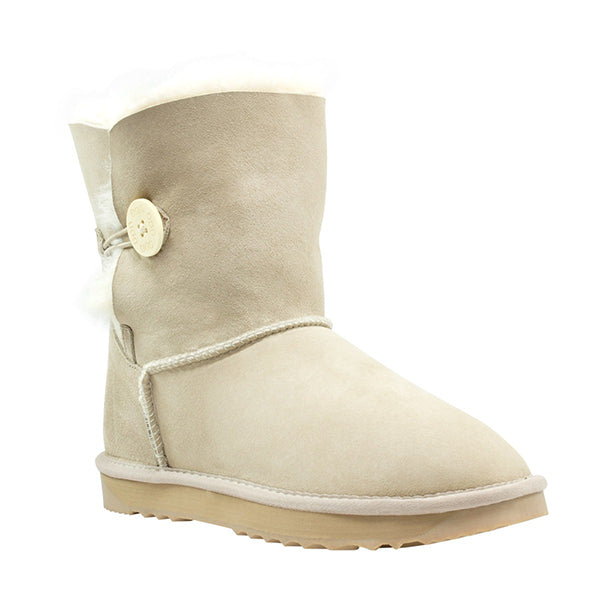 Comfort Me Australian Made Mini Bailey Button Ugg Boot Sand