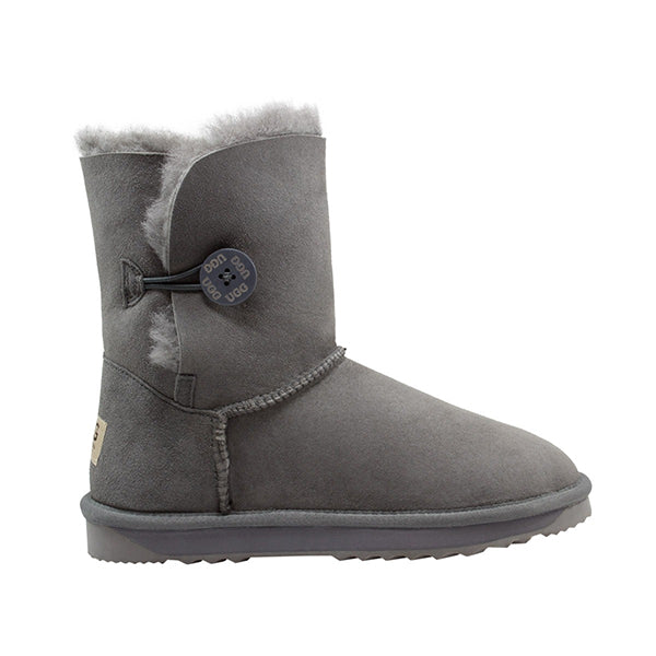 Comfort Me Australian Made Mid Bailey Button Ugg Boot Grey