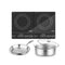 Soga Dual Burners Cooktop 30Cm Stainless Induction And 30Cm Frypan