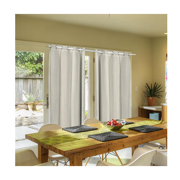 2X Blockout Curtains Panels 3 Layers With Gauze Room Darkening 180X230 Cm Sand