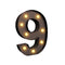 Led Metal Number Lights Free Standing Hanging Marquee Event Party Decor Number 9