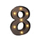 Led Metal Number Lights Free Standing Hanging Marquee Event Party Decor Number 8