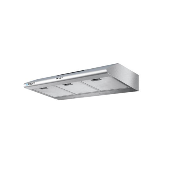 Devanti Fixed Range Hood Stainless Steel Kitchen Canopy 90Cm 900Mm