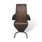 Dining Chairs 2 Pcs Brown Fabric Upholstery